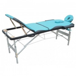 MASSAGE TABLE 3 sections 6 cm. padding,FD057B portable massa,ge table, superlight 13 kg , Carrier Bag free
