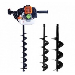 EARTH AUGER 52 cc, Petrol Earth Auger, ETAN062 Hole Borer Ground Drill with 3 Bits