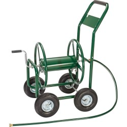 PORTABLE HOSE PIPE HR1801 REEL HOLDER 4Wheel Garden Hose Reel Cart  GARDEN WATER