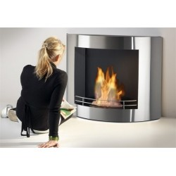 LUNA Biofireplaces.FD60 Bio fireplaces ethanol fireplaces silver
