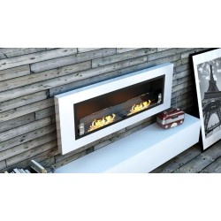 LUXUS PLUS Biofireplaces. FD94 WHITE GLASS Bio fireplaces ethanol fireplaces
