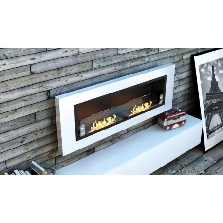 LUXUS PLUS Biofireplaces. FD94 WHITE GLASS Bio fireplaces ethanol fireplaces