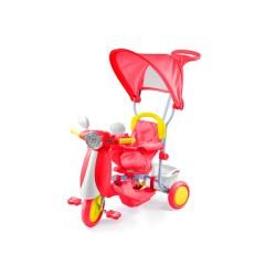 Triciclo Vespino rosso per bambini Dugez
