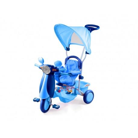 Triciclo Vespino azzurro per bambini Dugez