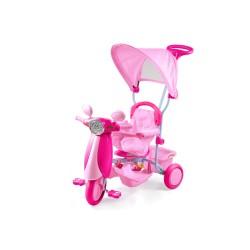 Triciclo Vespino rosa per bambini Dugez