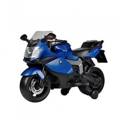 COLIBRI' Moto Elettrica Bmw K1300s blu Con Luci, Suoni E Rotelle Stabilizzatrici 12 Volt