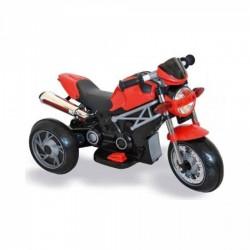 Moto Motocicletta Elettrica Naked Rossa 6V Per Bambini Dugez
