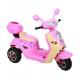 Scooterone elettrico Rosa Cavalcabile a 3 Ruote 6 Volt Per Bambini Dugez