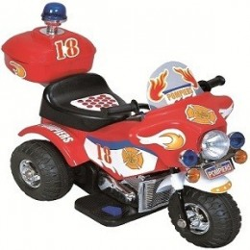 MOTO ELETTRICA POLICE Rosso Per Bambini Dugez