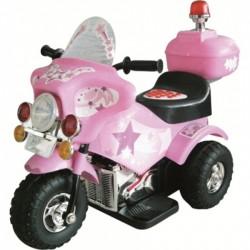 MOTO ELETTRICA POLICE Rosa Per Bambini Dugez