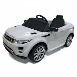Auto Macchina Elettrica Range Rover Evoque Bianca 12V Per Bambini