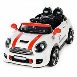 Auto Macchina Elettrica Rally Coupè Bianco 12V Per Bambini