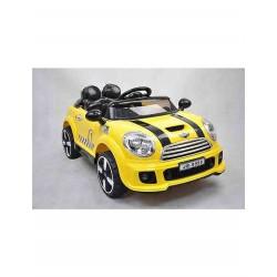 Auto Macchina Elettrica Rally Coupè Giallo 12V Per Bambini