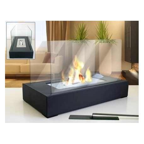 ROLLIS PLUS + pierres décoratives FD07 Bio foyers à l'éthanol cheminée de gel
