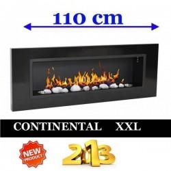 Biocamino al bioetanolo Nero CONTINENTAL XXL Bio camino 110x40 cm FD96
