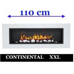 Biochimenea bio chimenea de etanol Blanco CONTINENTAL XXL 110 x 40 FD96