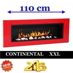 Biocamino al bioetanolo Rosso CONTINENTAL XXL Bio camino 110x40 cm FD96