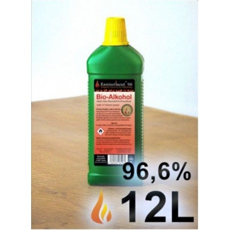 12 Litri bioetanolo puro al 96% per biocamini al bioetanolo certificato produzione tedesca