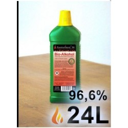 24 Lit Bioetanolo puro al 96,6% per camini al bioetanolo offerta
