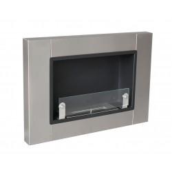 MEGALINE cm.78 SMALL GLASS INOX Biofireplace.FD30 Bio fireplaces ethanol fireplace