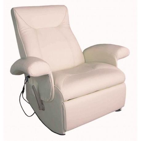 POLTRONA MASSAGGIANTE CAROL SA019HV, bianca Poltrona relax ,riscaldata vibrante, ecopelle , poltroncina TV , massaggi .Novità