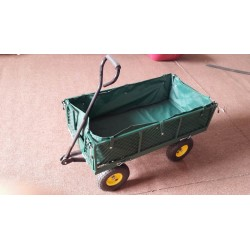 GARDEN HEAVY DUTY UTILITY TC1016 4WHEEL TROLLEY Wheelbarrow Garden Mesh Cart Tipper Dump