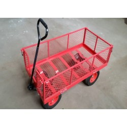 GARDEN HEAVY DUTY UTILITY TC1840A 4WHEEL TROLLEY Wheelbarrow Cart Tipper Dump SUPER STRONG