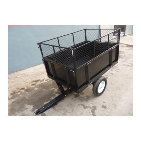 Carrello appendice per trattori, trattorini e tagliaerba TC3080H carrello rimorchio per vari mezzi agricoli portata 350 kg.