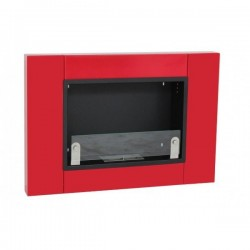 MEGALINE cm.78 SMALL GLASS RED ROSSO Biofireplace Bio fireplaces ethanol fireplace
