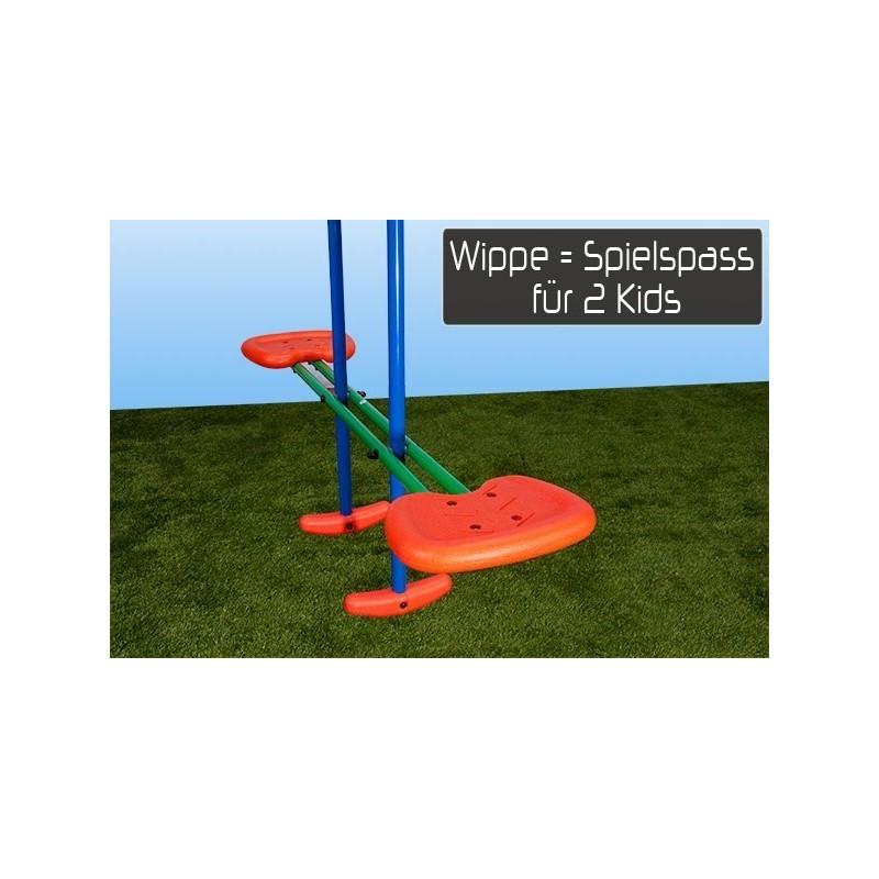 Altalena da esterno per bambini s003 4 posti 2 altalene 1 cavalluc - Dondolo da giardino bambini ...