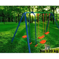 OUTDOOR KIDS CHILDRENS GARDEN DOUBLE SWING S003 , 4 place and GLIDER ,Outdoor Backyard Play Games