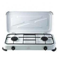 CUISINIERE GAZ ,24ETA22 Cuisinière, Barbecue Camping Fourneau Double Gaz 2 Brûleurs, cuisinière extérieure