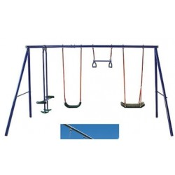 OUTDOOR KIDS CHILDRENS GARDEN DOUBLE SWING ETCD-S0002 ,5 place, GLIDER and 2 RINGS,Outdoor Backyard Play Games
