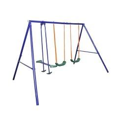BALANCOIRE POUR ENFANTS AVEC BASCULE, ETCD-S003 PLUS 4 places 2 Balançoire pour enfants avec bascule, chaînes en acier