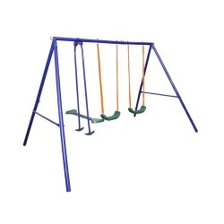 OUTDOOR KIDS CHILDRENS GARDEN DOUBLE SWING,ETCD S003 PLUS , 4 place and GLIDER ,Outdoor Backyard Play Games,heavy chain