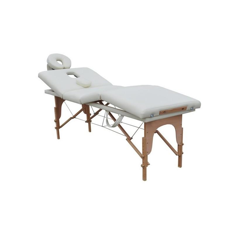 Lettino Portatile Per Massaggio.Lettino Da Massaggio 4 Zone Bianco Portatile 6 Cm Imbottitura Fd09
