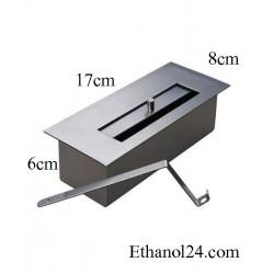BRUCIATORE 0,5 lit FDB31 professionale acciaio inox per biocamino