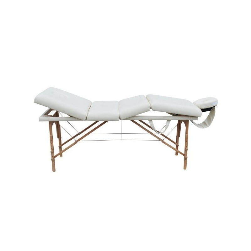 Custodia Per Lettino Da Massaggio.Lettino Da Massaggio 4 Zone Bianco Portatile 4 Cm Imbottitura Df09