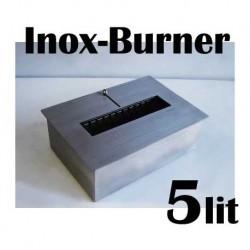 BRULEUR PROFESSIONAL 5 lit. FDB27 en acier inoxydable pour bio-cheminees