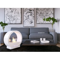 PERLA DESIGN VOG04 WHITE.Biofireplace.Bio fireplaces ethanol fireplaces