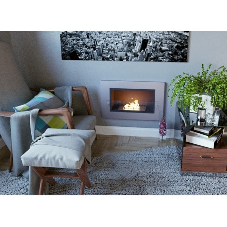 ELITE inox Biofireplace. FD93 Bio fireplaces ethanol fireplaces
