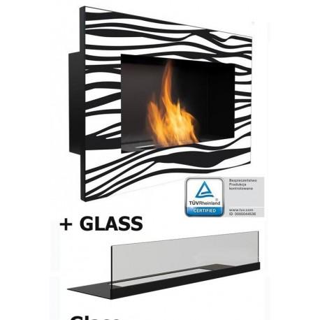 ZEBRATO GOLF GLASS Biofireplace. Bio fireplaces ethanol fireplaces