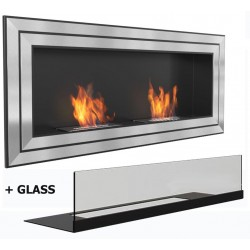 LONDON MEGA Biofireplace cm 150x 65. Bio fireplaces ethanol fireplaces