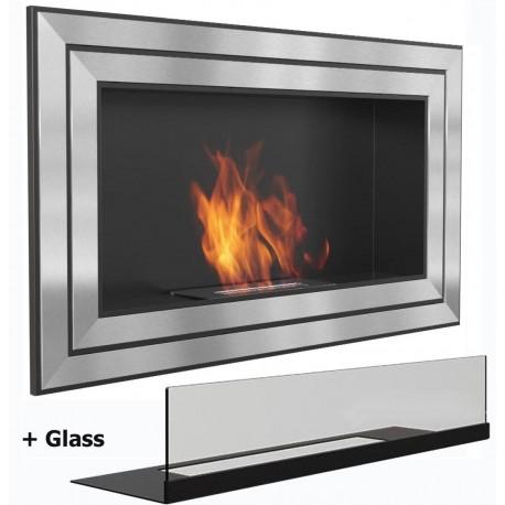 LONDON MEGA Biofireplace cm 110x 65. Bio fireplaces ethanol fireplaces