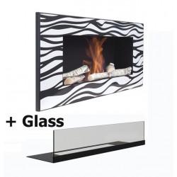 Biokamin Bio Ethanol Kamine Gel mod ZEBRATO glass Large