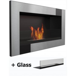 con vetro Biocamino 64 cm al bioetanolo stufa al bioetanolo 2L 64cm
