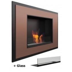 Con vetro VISCONTI Glass Alpha Biocamino Bio camino al bioetanolo MG