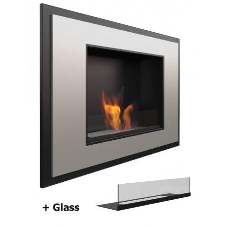 Con vetro Satinato Glass Alpha Biocamino Bio camino al bioetanolo