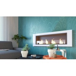 MEGALINE GIGA 4 X 1,5 BURNER Biofireplace . FD30F white Bio fireplaces ethanol fireplaces