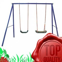 SWING OUTDOOR KIDS CHILDRENS GARDEN DOUBLE SWING S004 , 2 place , activity child,Outdoor Backyard Play Games
